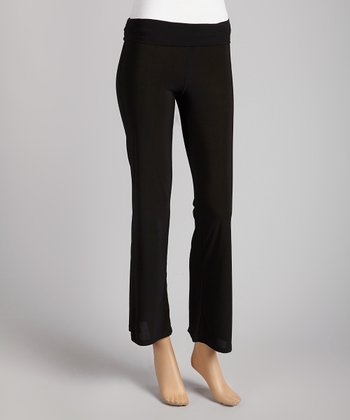 Black Straight-Leg Pants