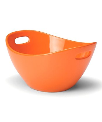 Orange Serving Bowl