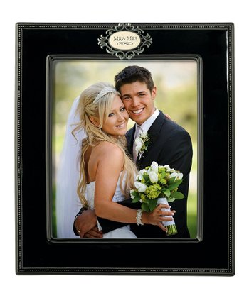 Black Metal 'Mr & Mrs' Photo Frame