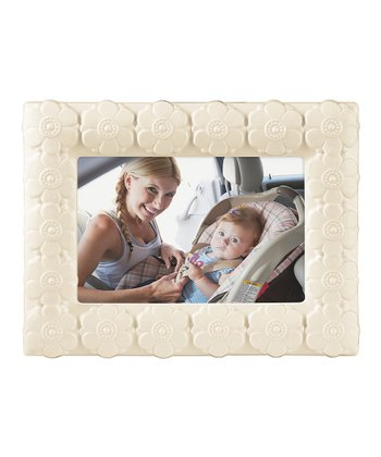 White Floral Photo Frame