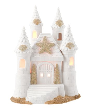 White Sand Castle Lighted Figurine