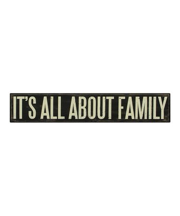 'All About Family' Box Sign