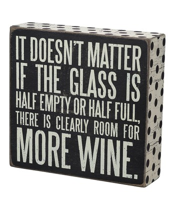 'More Wine' Box Sign