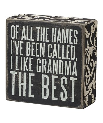 'Grandma the Best' Box Sign