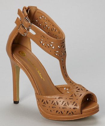 Tan Monica Cutout Pump
