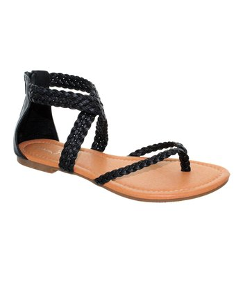 Black Braided Orlena Sandal