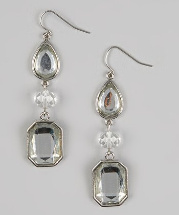 Crystal Geometric Drop Earrings