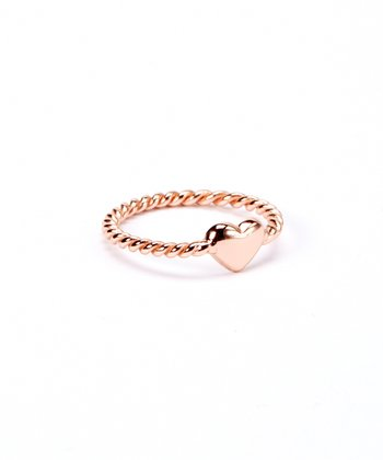 Rose Gold & Sterling Silver Heart Ring