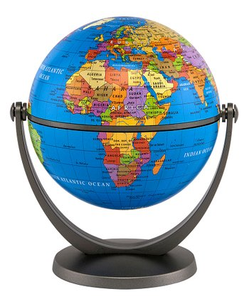 Blue Ocean 4'' Swivel & Tilt Mini Globe