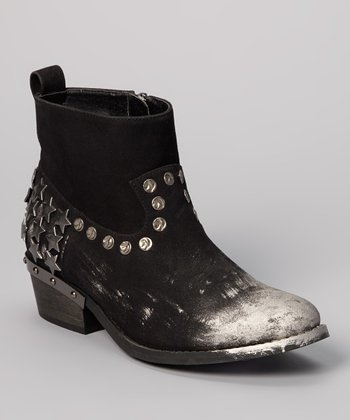 Black Paladin Studded Ankle Boots