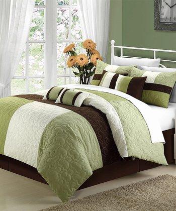 Sage & Brown Zinfandel Comforter Set