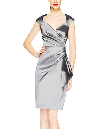 Steel Taffeta Wrap Dress - Women