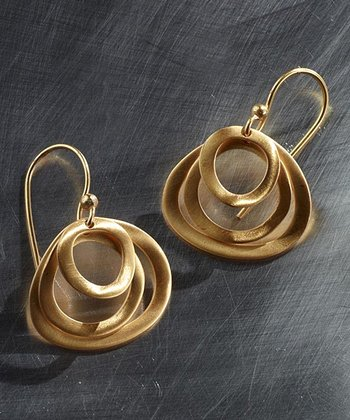 Gold Triple-Hoop Earrings