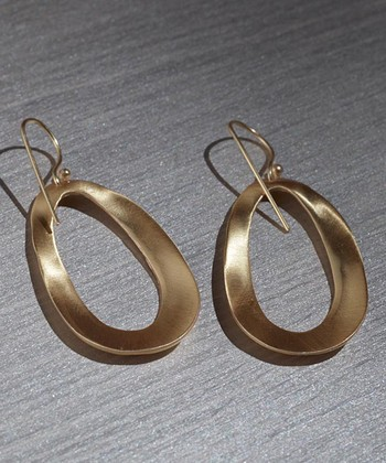 Gold Open Oval Earrings