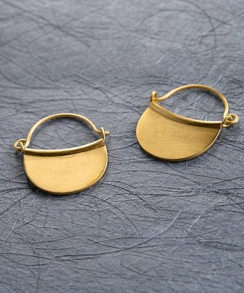 Gold Half-Moon Hoop Earrings
