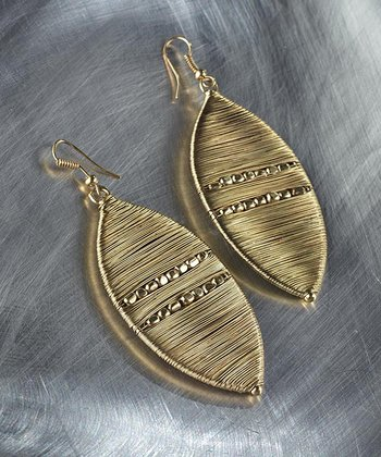 Gold Marquis Drop Earrings
