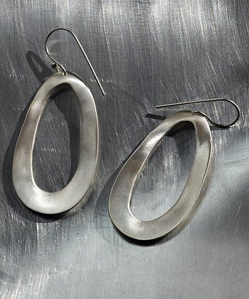 Silver Open Oval Earrings