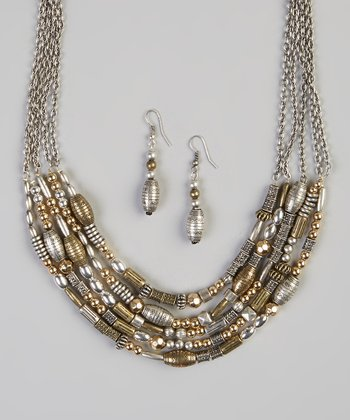 Gold & Silver Alexandria Necklace & Earrings