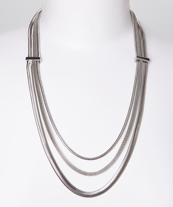 Silver Triple Chain Necklace