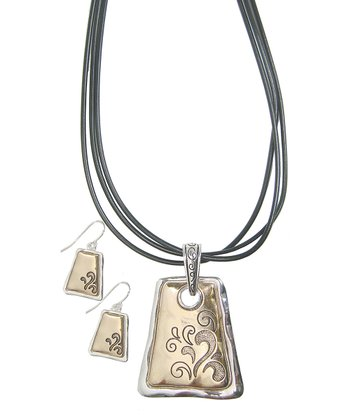 Gold & Silver Tessa Pendant Necklace & Earrings