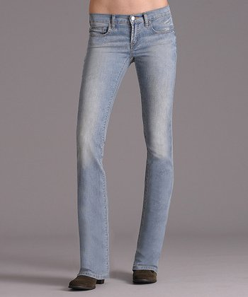 Worn Light Blue Ideal Bootcut Jeans