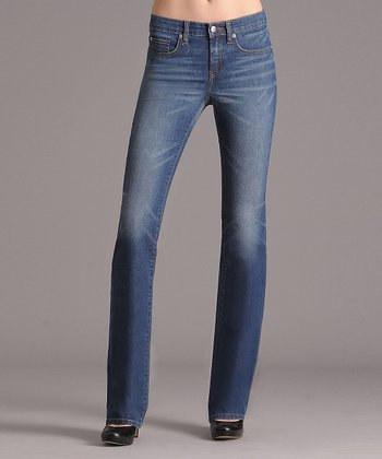 Antique Indigo Signature Flap Mid-Rise Bootcut Jeans - Women