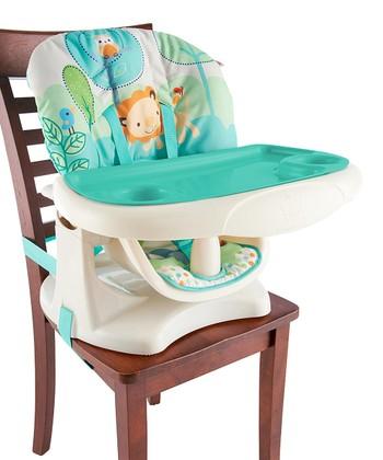 Bright Starts Aqua Playful Pals Chair Top High Chair