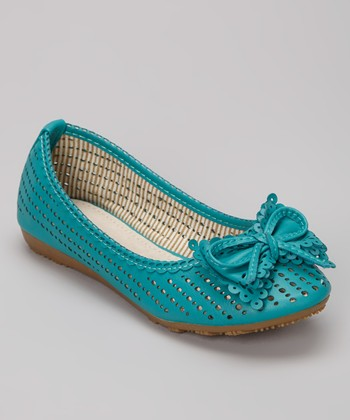 Green Lolly Ballet Flat