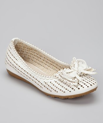 White Lolly Ballet Flat