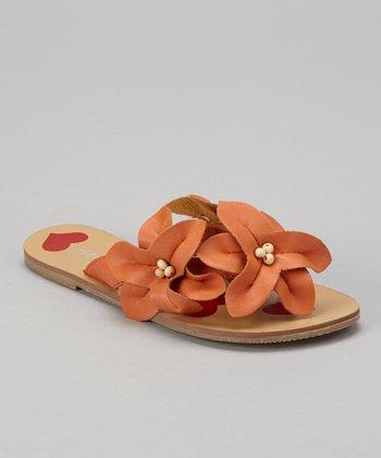 Orange Love Story Sandal