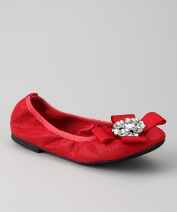 Red Twisty Ballet Flat