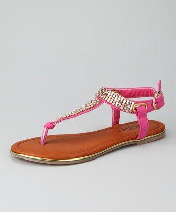 Fuchsia Zippy Sandal