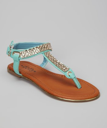 Mint Zippy Sandal