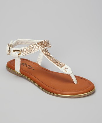 White Zippy Sandal