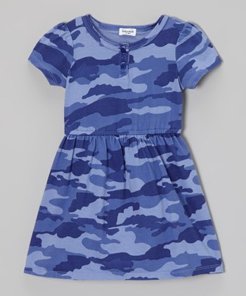 Splendid Hyacinth Camo Henley Dress - Infant