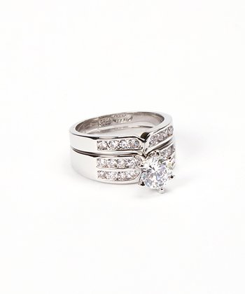 Cubic Zirconia Sparkle Ring Set