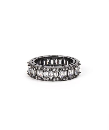 Sparkle & Sterling Silver Oval Eternity Ring