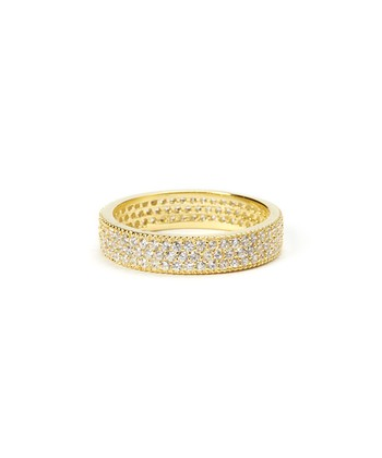 Sparkle & Yellow Gold Dot Ridge Ring