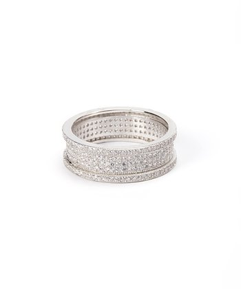 Sparkle & Sterling Silver Wheel Ring