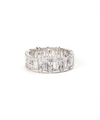 Sparkle & Sterling Silver Pillar Ring