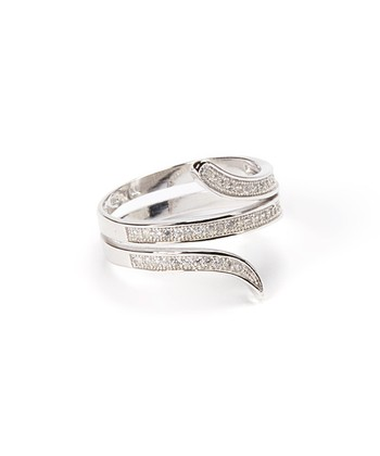 Sparkle & Sterling Silver Snake Ring