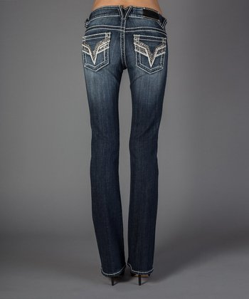 Dark Wash Chelsea Booutcut Jeans - Women