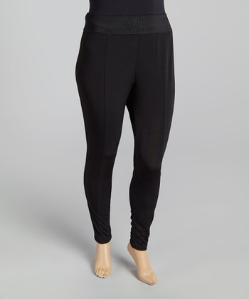 Black Harem Pants - Plus