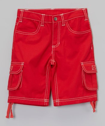 Red Cargo Shorts - Infant, Toddler & Boys