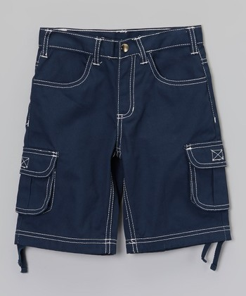 Blue Cargo Shorts - Infant, Toddler & Boys