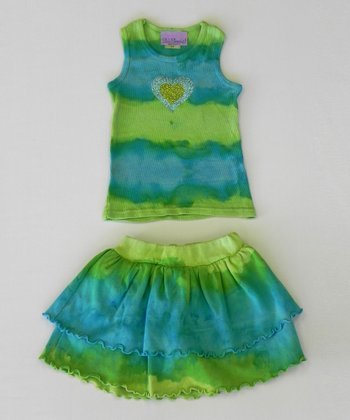 Citrus & Ocean Heart Tank & Skort - Toddler & Girls