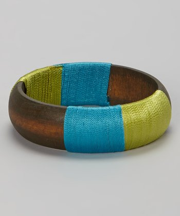 Green & Blue Wrapped Bangle