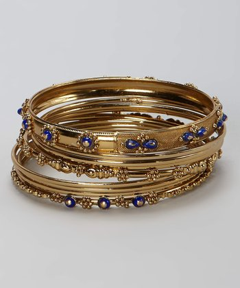 Purple & Gold Bangle Set
