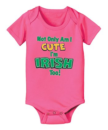 Pink 'I'm Irish Too!' Bodysuit - Infant