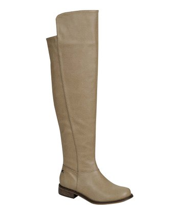 Beige Classic Over-the-Knee Boot